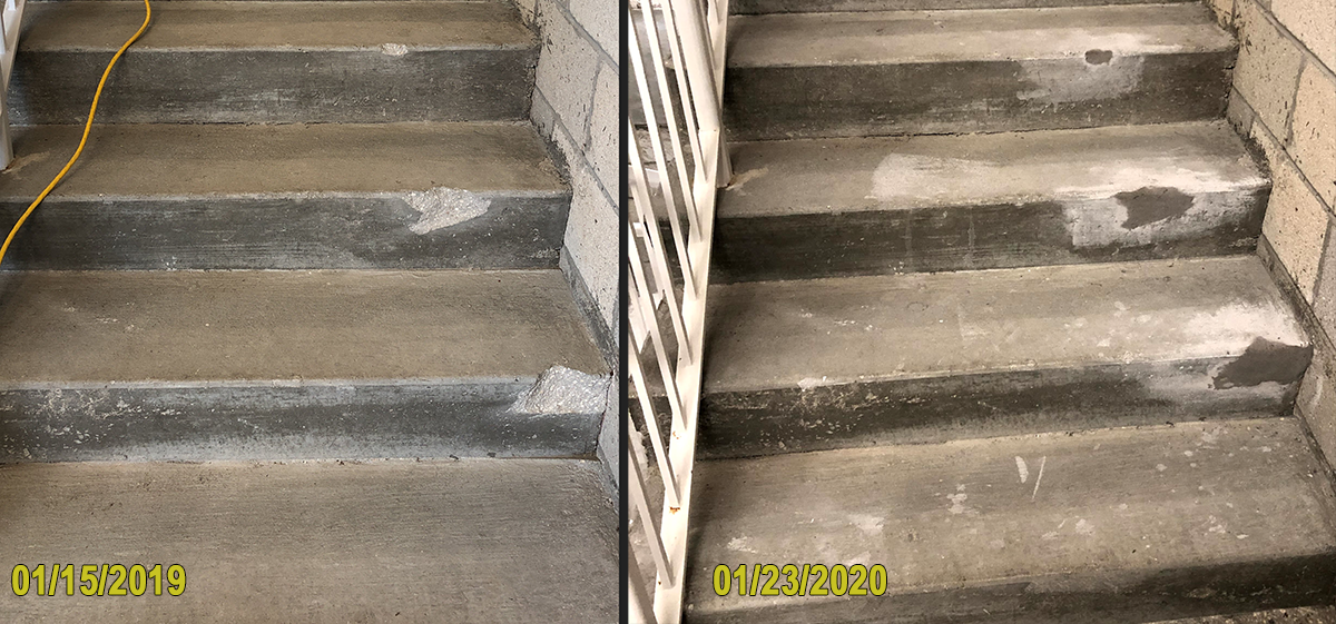 Before and After Starwell Repair with Phoscrete VO