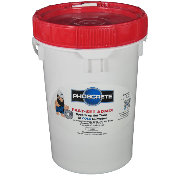phoscrete rapid fast set concrete