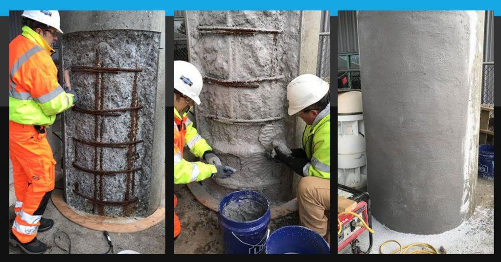 Phoscrete Team Repairing Damaged Concrete
